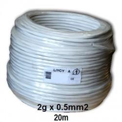 Cable bi-polaire electrique 0.5mm2